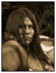 Detail from Geronimo surrender photo. Reproduced from Sherry Robinson's Apache Voices